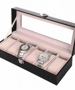 boite cuir noir pour montre