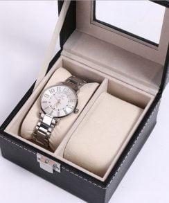 boite montre cuir