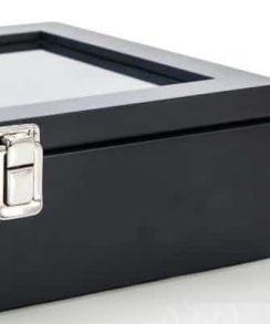 boite pour montre noir charnière solide