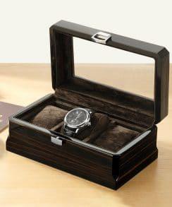 boite rangement montre noir