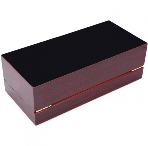 boites rangement bois rouge