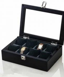 boite pour montre en bois noir