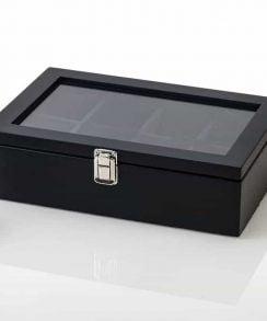 boite pour montre en bois coussin noir