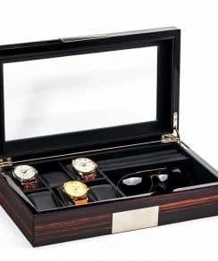 boite montre en bois avec placement lunette
