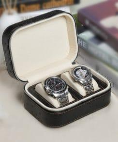 coffret montres cuir