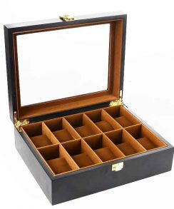 boite montre en bois noir