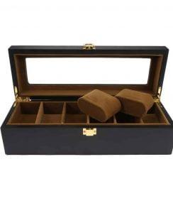 boite de montre noire matte