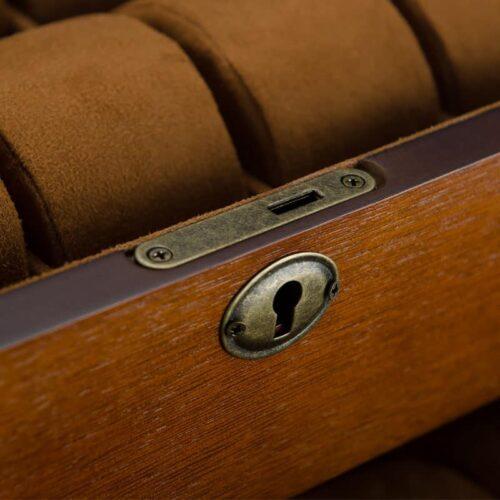 boite de montre vintage coussin brun