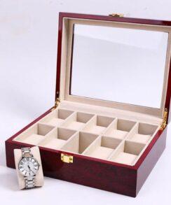 boitier à montre en bois