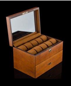 boite de rangement bois vintage