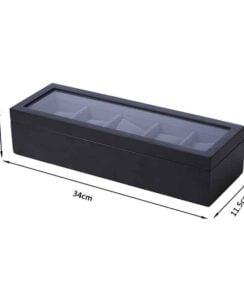 coffret de rangement montre en bois noir