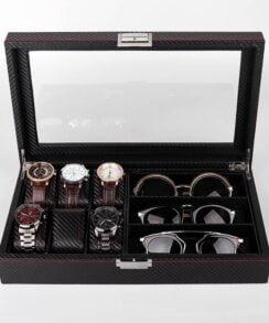 boite à montres en carbone