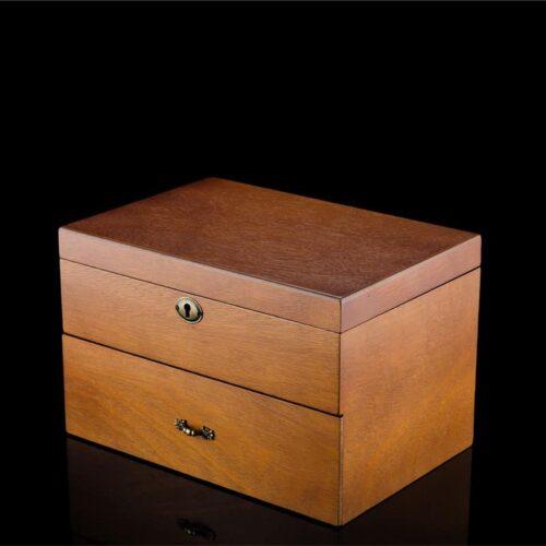 boite à montre en bois vintage