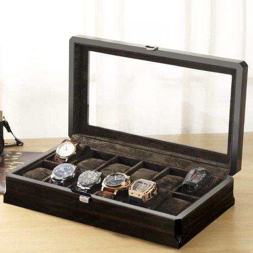 boite montre luxe gris