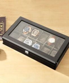 boite montre luxe gris présentoir