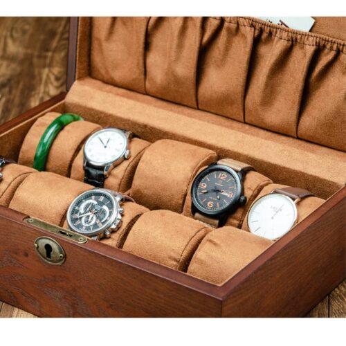 boite à montre en bois 10 emplacements
