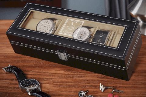 boite à montre en cuir