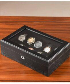 boite à montres en bois noir