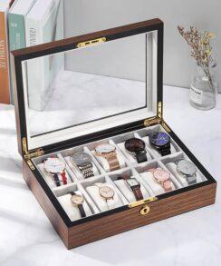 boite pour montre de luxe bois avec serrure