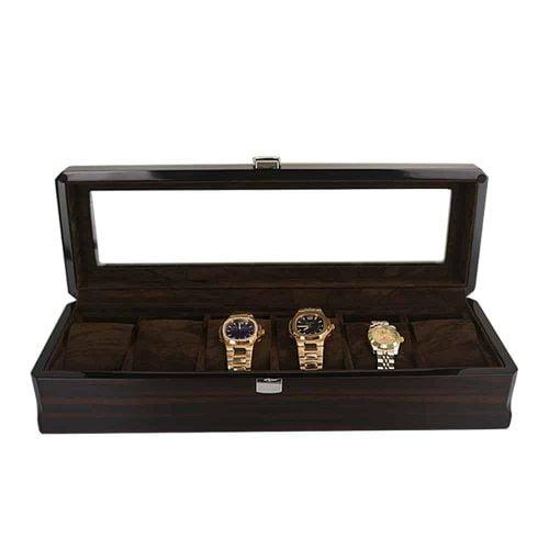 boite rangement montre en bois laqué