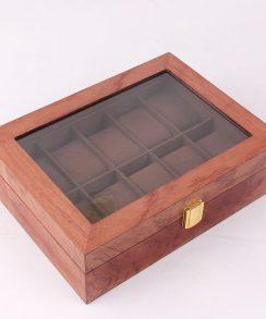 boite pour montre de luxe coussin noyer