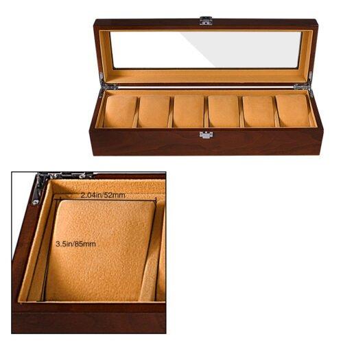 Boite montre en bois pour 5 emplacements