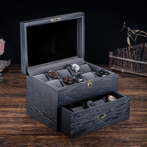 boite montre en bois pour 20 emplacements