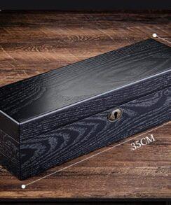 boite montre en bois pour 6 emplacements